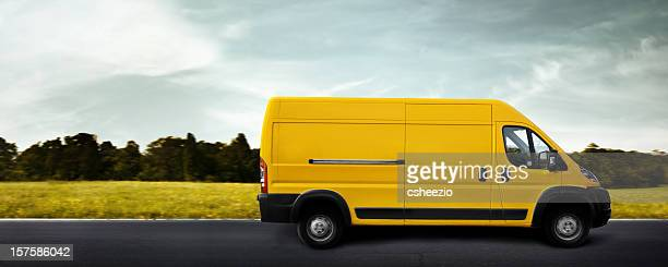 delivery truck - van stock pictures, royalty-free photos & images