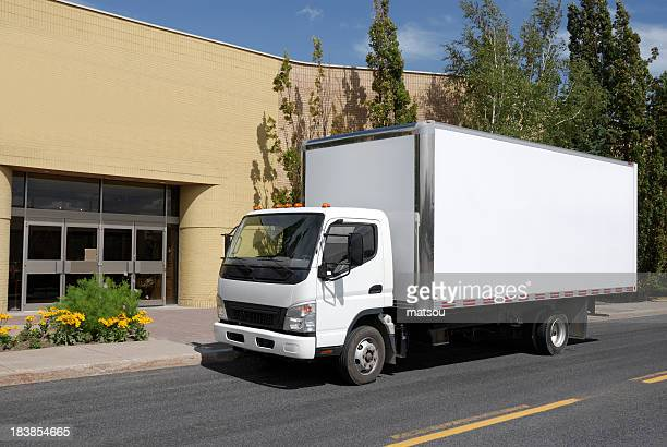 delivery truck. - white van stock photos and pictures