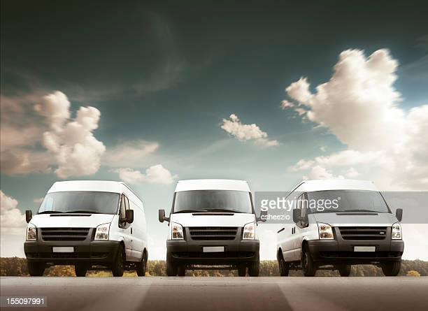 delivery trucks - van stock pictures, royalty-free photos & images