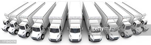 Les camionnettes de livraison