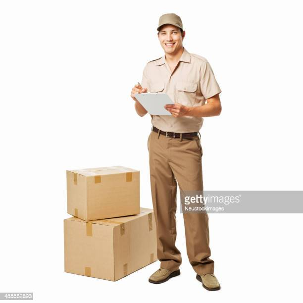 Deliveryman Portrait - Isolated