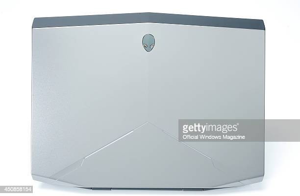 A Dell Alienware 14 gaming laptop photographed on a white background taken on July 26 2013