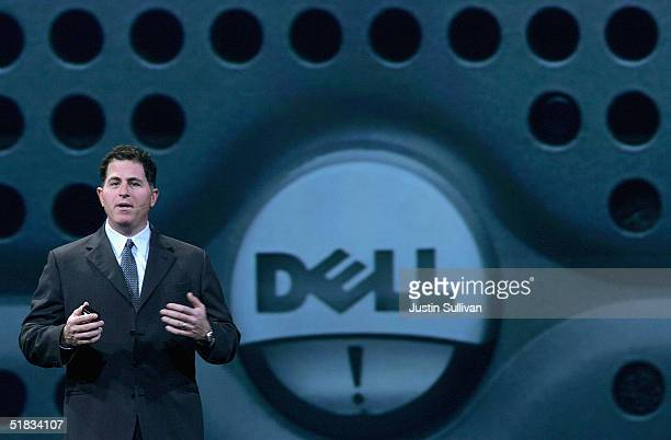 Dell CEO Michael Dell delivers a keynote address at the 2004 Oracle OpenWorld Conference December 7, 2004 in San Francisco. The annual technology...