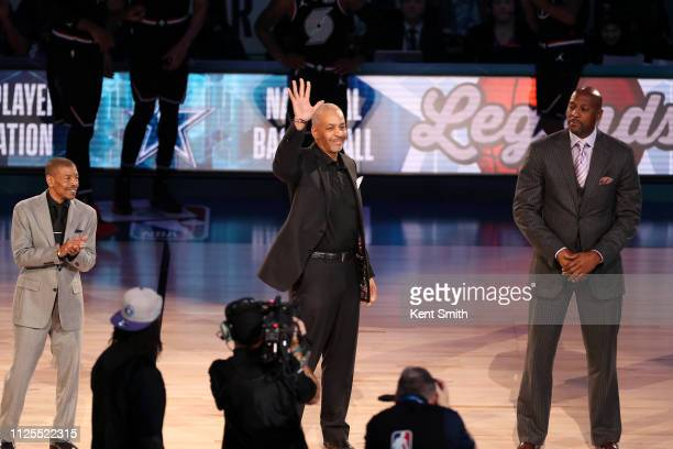 Dell Curry is acknowledged during the 2019 NBA AllStar Game on February 17 2019 at the Spectrum Center in Charlotte North Carolina NOTE TO USER User...