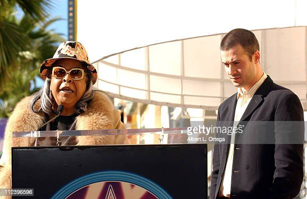 Della Reese and Freddie Prinze Jr during Freddie Prinze Posthumously Honored with a Star on the Hollywood Walk of Fame for His Achievements in...