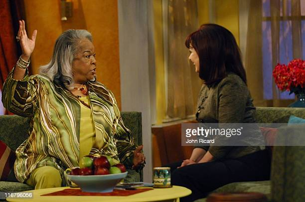 Della Reese and Naomi Judd during Della Reese Visits the Hallmark Channel's Naomi's New Morning January 26 2007 at Metropolis Studios in New York...