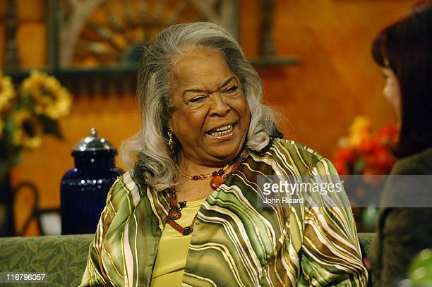Della Reese during Della Reese Visits the Hallmark Channel's 'Naomi's New Morning' January 26 2007 at Metropolis Studios in New York City New York...