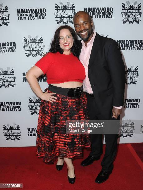 Dellany Peace and James Parris arrive for The 2019 Hollywood Reel Independent Film Festival held at Regal LA Live Stadium 14 on February 15 2019 in...