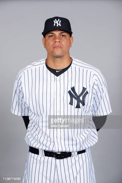 Dellin Betances of the New York Yankees poses during Photo Day on Thursday February 21 2019 at George M Steinbrenner Field in Tampa Florida