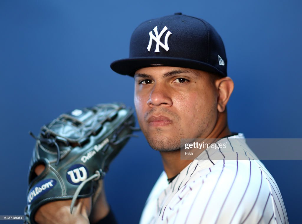 Dellin Betances #68 of the New York Yankees poses for a portrait during the New York Yankees photo day on February 21, 2017 at George M. Steinbrenner Field in Tampa, Florida.