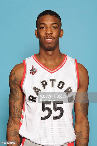 Delon Wright of the Toronto Raptors poses for a photo during media day on September 28 at the Air Canada Centre in Toronto Ontario Canada NOTE TO...