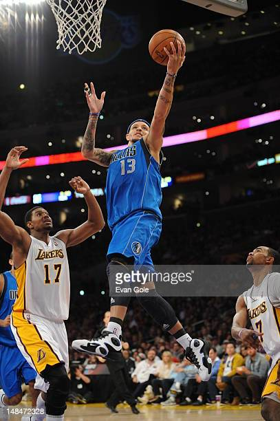 Delonte West of the Dallas Mavericks shoots the ball against the Los Angeles Lakers on April 15 2012 in Los Angeles California NOTE TO USER User...