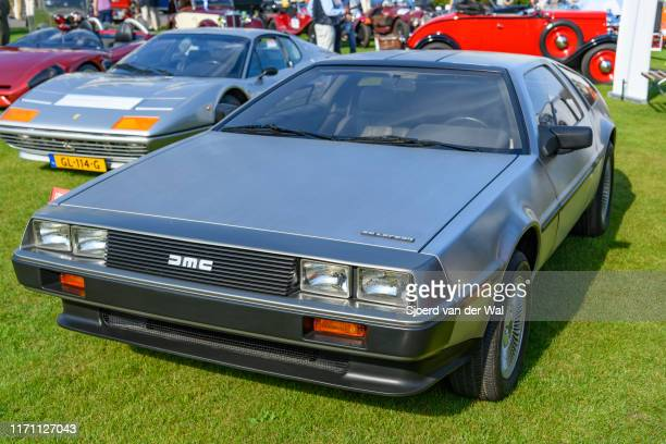 DeLorean DMC12 classic sports car on display at the 2019 Concours d'Elegance at palace Soestdijk on August 25 2019 in Baarn Netherlands The DeLorean...