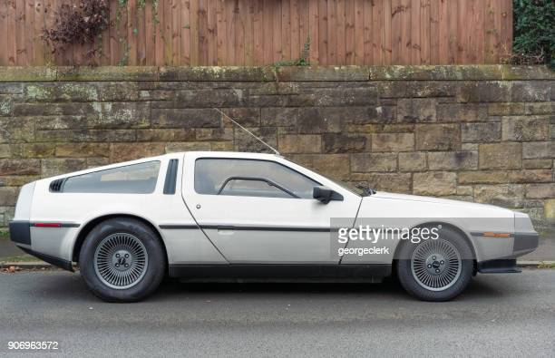 delorean dmc-12 sports car - 1970s muscle cars stock pictures, royalty-free photos & images