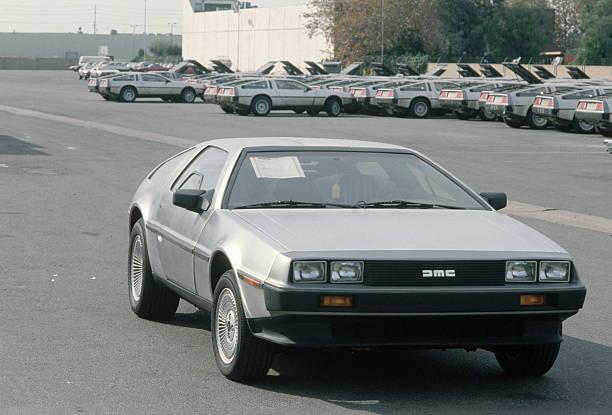 DeLorean Sports Car at Sales Office Lot