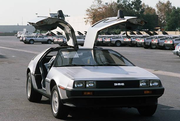 DeLorean Sports Car With Doors Open