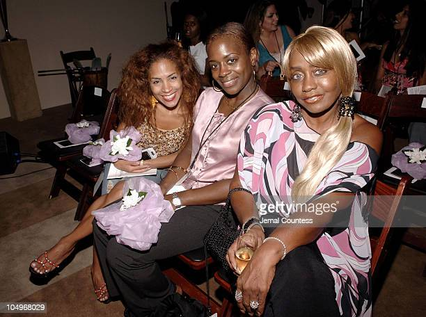Delores Hernandez Keisha Combs and Janice Combs during Olympus Fashion Week Spring 2006 Chris Aire Backstage and Front Row at New York Public Library...