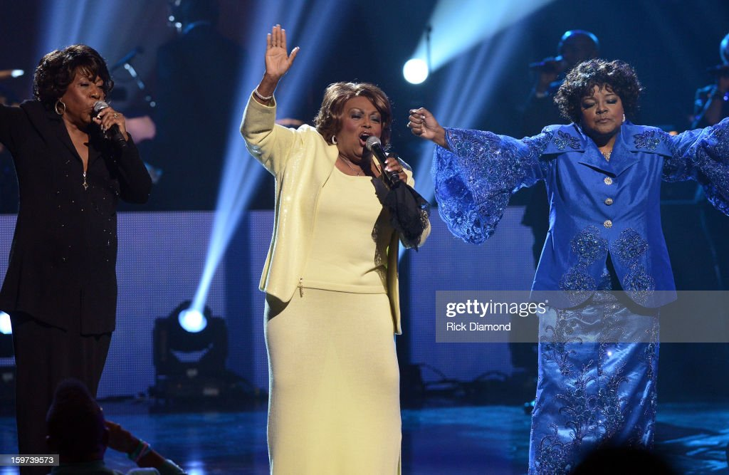 Delores Washington, Dorothy Norwood, and Shirley Caesar perform during the 28th Annual Stellar Awards Show at Grand Ole Opry House on January 19, 2013 in Nashville, Tennessee.
