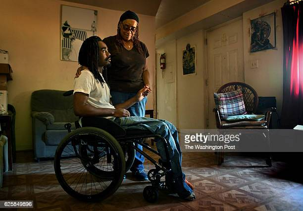 Delories Williams with her late grandson Tyree Williams age 26 Tyree was badly injured in a shooting when he was age 13 and recently died They live...