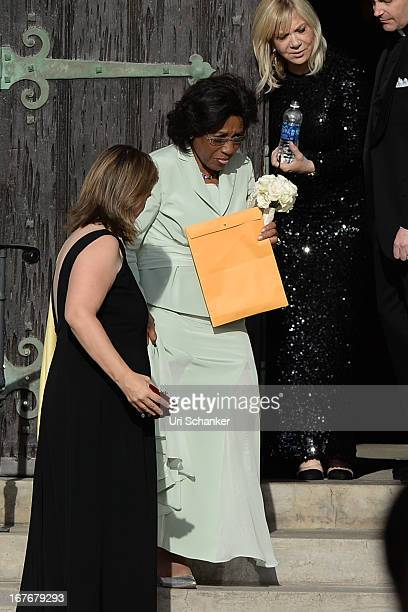Deloris Jordan is sighted at Michael Jordan and Yvette Prieto wedding Bethesdabythe Sea church on April 27 2013 in Palm Beach Florida
