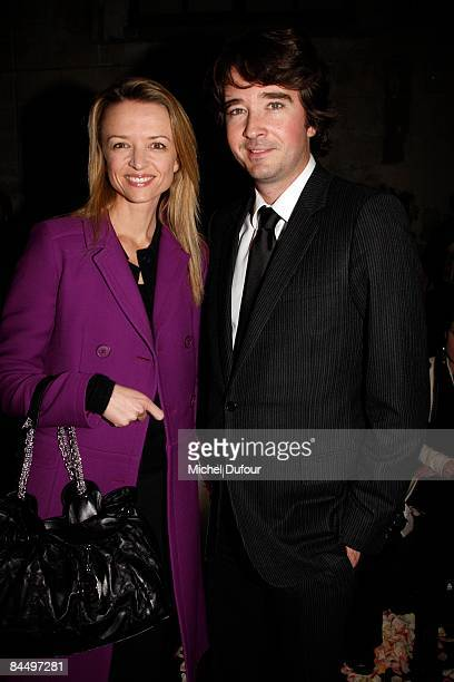Delphine and Antoine Arnault attends the Givenchy fashion show during Paris Fashion Week Haute Couture Spring/Summer 2009 on January 27 2009 in Paris...