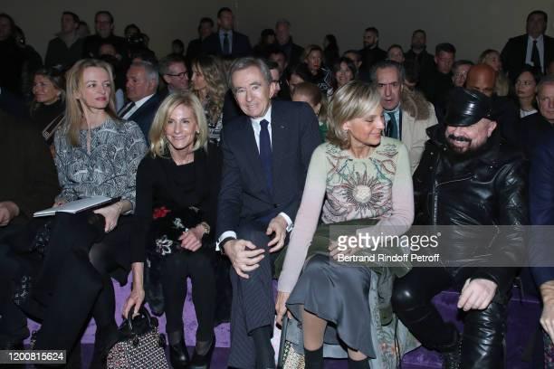 Delphine Arnault Ambassador of USA to Paris Jamie McCourt Bernard Arnault Helene Arnault and Peter Marino attend the Dior Haute Couture Spring/Summer...