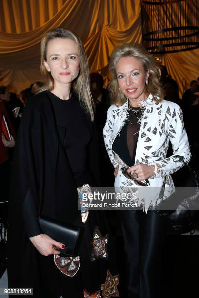 Delphine Arnault and Camilla de Bourbon Siciles attend the Christian Dior Haute Couture Spring Summer 2018 show as part of Paris Fashion Week on...