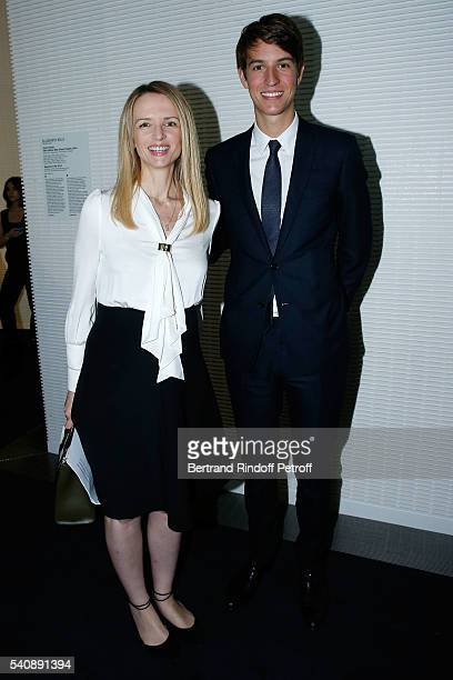Delphine Arnault and her Brother Alexandre Arnault attend the LVMH Prize 2016 Young Fashion Designer at Fondation Louis Vuitton on June 16 2016 in...