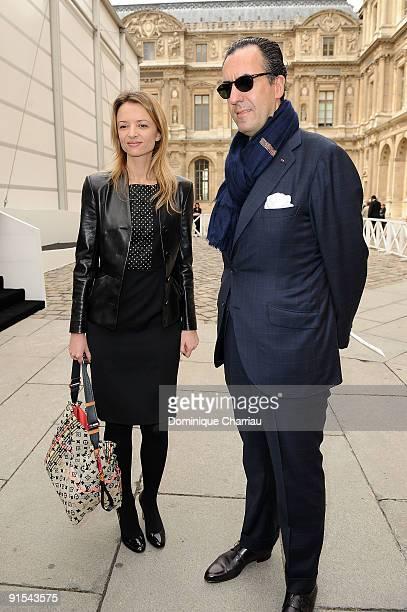 Delphine Arnault and Jaime de Marichalar arrive for the Louis Vuitton Pret a Porter show as part of the Paris Womenswear Fashion Week Spring/Summer...