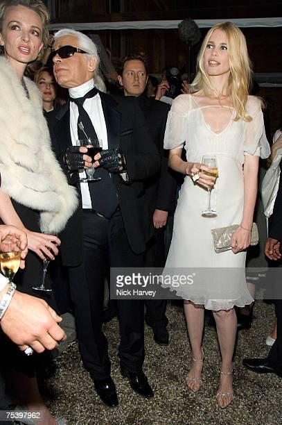 Delphine Arnault and Karl Lagerfeld Claudia Schiffer