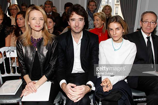 Delphine Arnault, Antoine Arnault and Gaia Repossi attend the Dior Haute-Couture 2012 show as part of Paris Fashion Week, at Salons Christian Dior on...