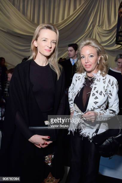 Delphine Arnault attends the Christian Dior Haute Couture Spring Summer 2018 show as part of Paris Fashion Week on January 22 2018 in Paris France