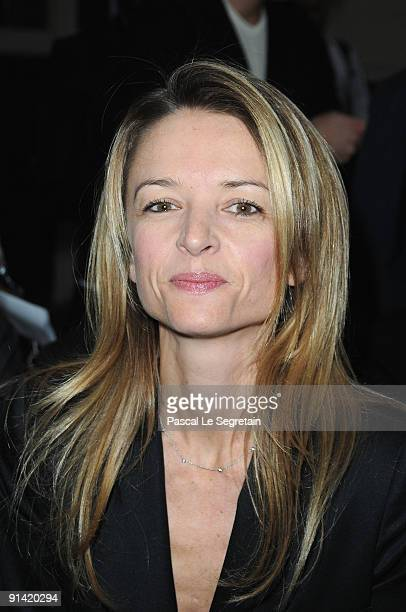 Delphine Arnault attends the Givenchy Pret a Porter show as part of the Paris Womenswear Fashion Week Spring/Summer 2010 on October 4 2009 in Paris...