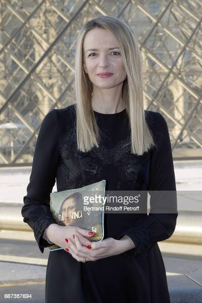 Delphine Arnault attends the LVxKOONS exhibition at Musee du Louvre on April 11 2017 in Paris France