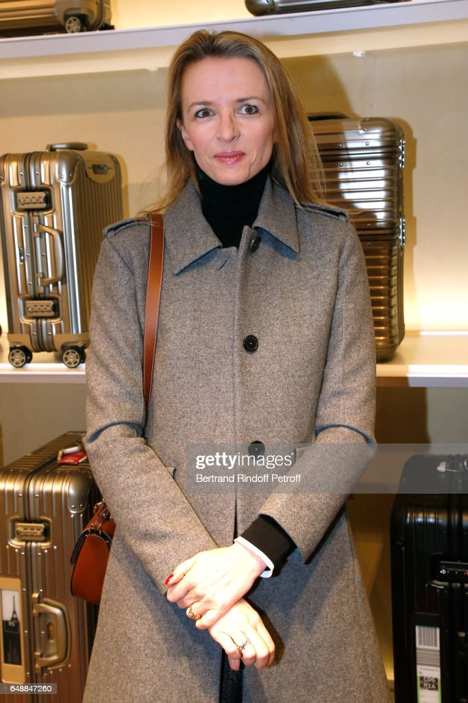 Delphine Arnault attends the Opening of the Boutique Rimowa - 73 Rue du Faubourg Saint Honore in Paris on March 6, 2017 in Paris, France.