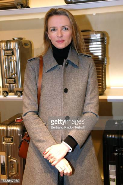 Delphine Arnault attends the Opening of the Boutique Rimowa 73 Rue du Faubourg Saint Honore in Paris on March 6 2017 in Paris France