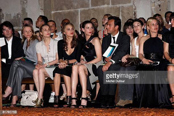Delphine Arnault Chelsea Tallarico Liv Tyler Chairman of Givenchy Charlotte Gainsbourg and Patricia Arquette attends at the Givenchy '09 Fall Winter...