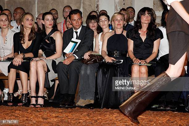 Delphine Arnault Chelsea Tallarico Liv Tyler Chairman of Givenchy Charlotte Gainsbourg and Patricia Arquette attend at the Givenchy '09 Fall Winter...