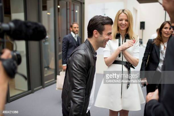 Delphine Arnault daughter of Bernard Arnault and director of Louis Vuitton is photographed for Paris match with Nicolas Ghesquieres artistic director...
