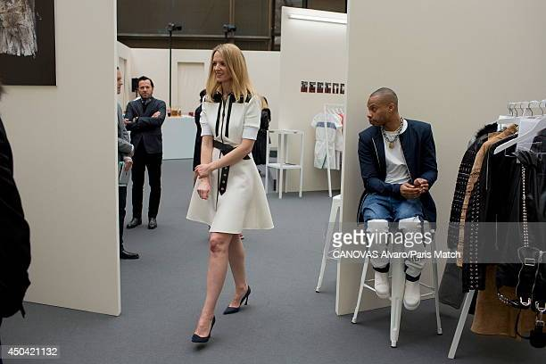 Delphine Arnault daughter of Bernard Arnault and director of Louis Vuitton is photographed for Paris match with the american stylist Shayne Oliver...