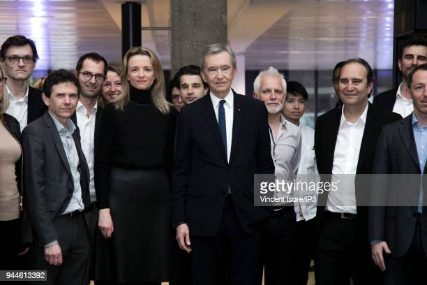 Delphine Arnault Deputy Chief Executive Officer of Louis Vuitton Bernard Arnault CEO of the LVMH group and Xavier Niel founder of station F and CEO...