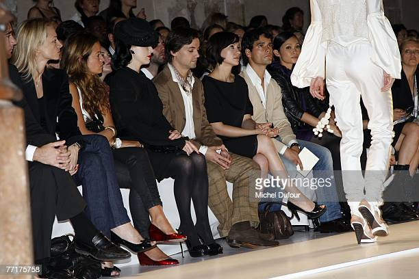 Delphine Arnault Dita von Teese Angel Corella Natalia Verbeke and Miguel Abellan attends the Loewe fashion show during the Spring/Summer 2008...