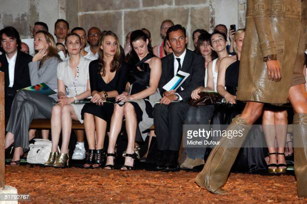 Delphine Arnault Emmanuelle Seigner Chelsea Tallarico Liv Tyler Chaiman of Givenchy Charlotte Gainsbourg and Patricia Arquette attends at the...