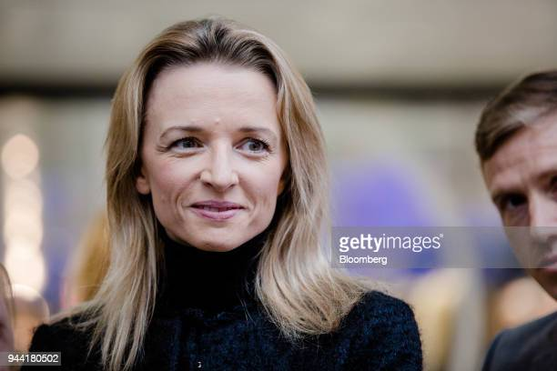 Delphine Arnault executive vice president of LVMH Moet Hennessy Louis Vuitton SE looks on during the inauguration of the LVMH startup accelerator at...