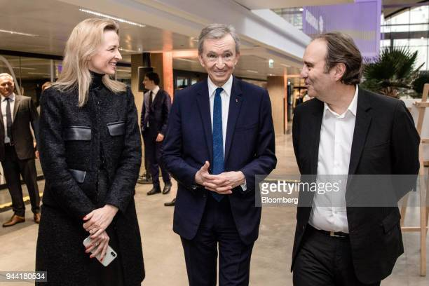 Delphine Arnault executive vice president of LVMH Moet Hennessy Louis Vuitton SE left Bernard Arnault billionaire and chief executive officer of LVMH...
