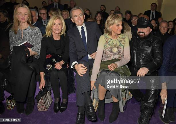 Delphine Arnault guest LVMH CEO Bernard Arnault Helene Arnault and Peter Marino attend the Dior Haute Couture Spring/Summer 2020 show as part of...