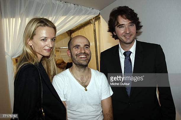 Delphine Arnault Jose Enrique Selfa Antoine Arnault attends the Loewe fashion show during the Spring/Summer 2008 readytowear collection show at...