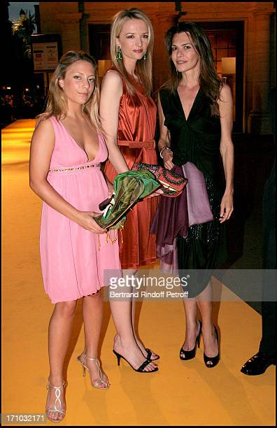 Delphine Arnault with Carla Maria Orsi Carbone and Maria Sole Torlonia Dinner at the Fendi Palazzo in Rome for the launch of the new perfume Palazzo