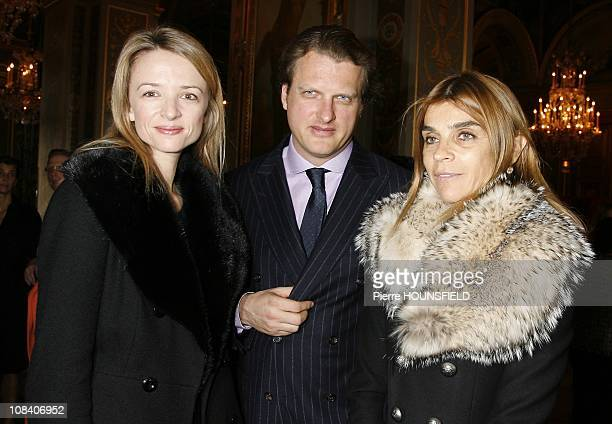 Delphine Arnault with her husband Alessandro Vallarino Gancia in Paris France on January 24th 2008