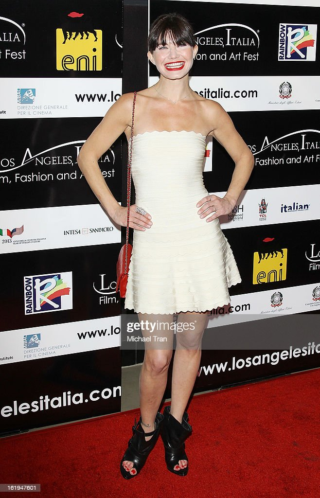 Delphine Chaneac arrives at The 8th Annual Los Angeles, Italia Film, Fashion And Art Festival held at Chinese 6 Theatres on February 17, 2013 in Hollywood, California.